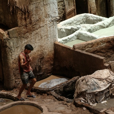 Old Leather Tannery - Morocco