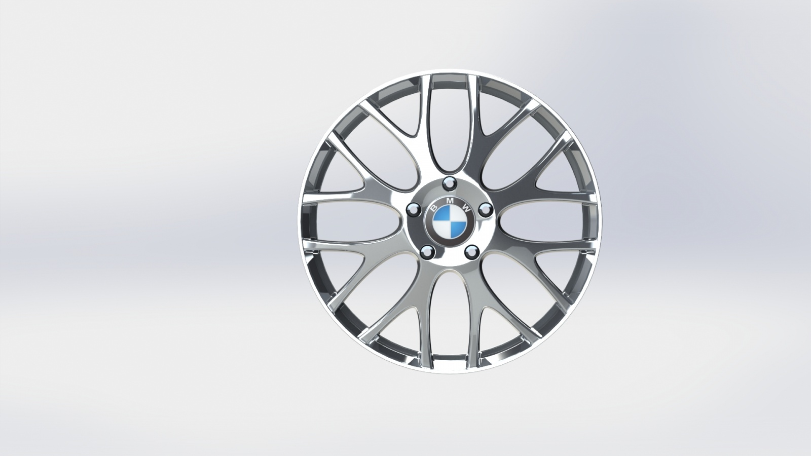 Borchia-3d-BMW-Frontale-Renderizzata - Vista Frontale