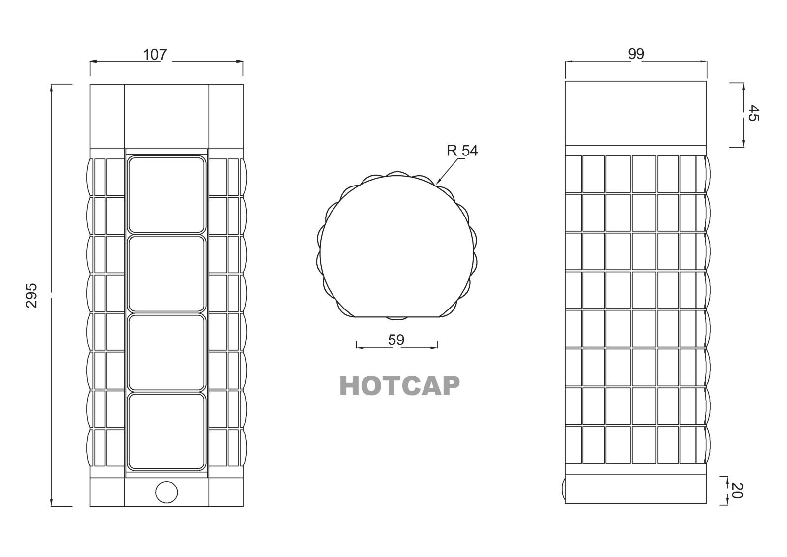 Hot Cap - Hot cap è un thermos che grazie ad un particolare sistema interno permette di riscaldare il contenuto dello stesso; é formato da pannelli fotovoltaici collegati a batterie ricaricabili, che riscaldano un resistenza.