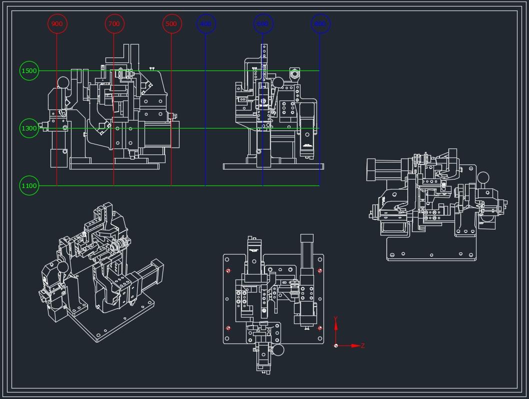 Disegno-Tecnico-Complessivo - Disegno Complessivo di una Attrezzatura di saldatura di un particolare della macchina.