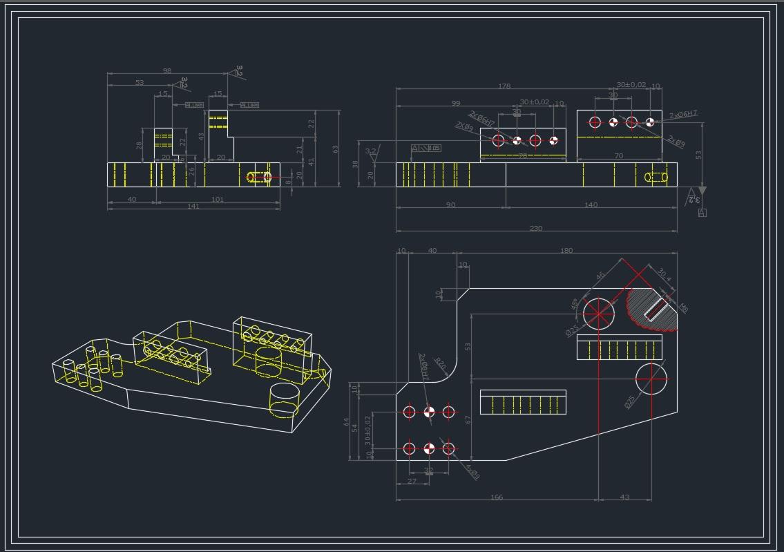 Disegno-Tecnico-2d - Un esempio di particolare costruttivo 2d quotato.