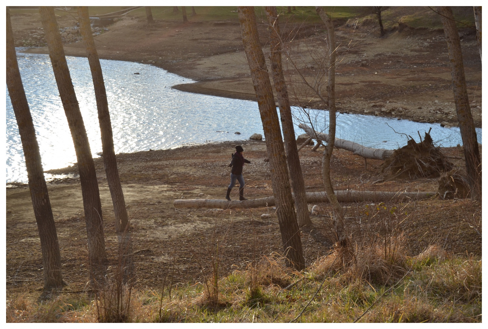 Equilibrista - Spenzieratezza di una giornata al lago.